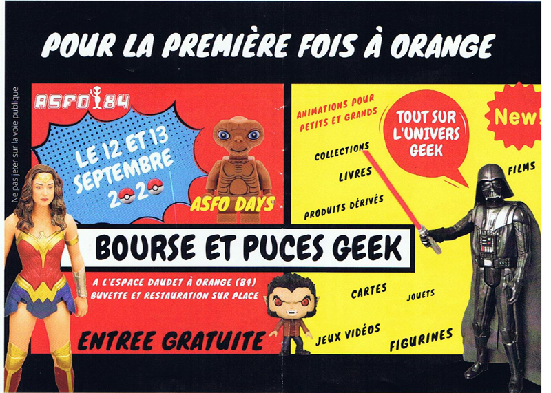 Asfo Days Bourse et Puces GEEK a Orange 84